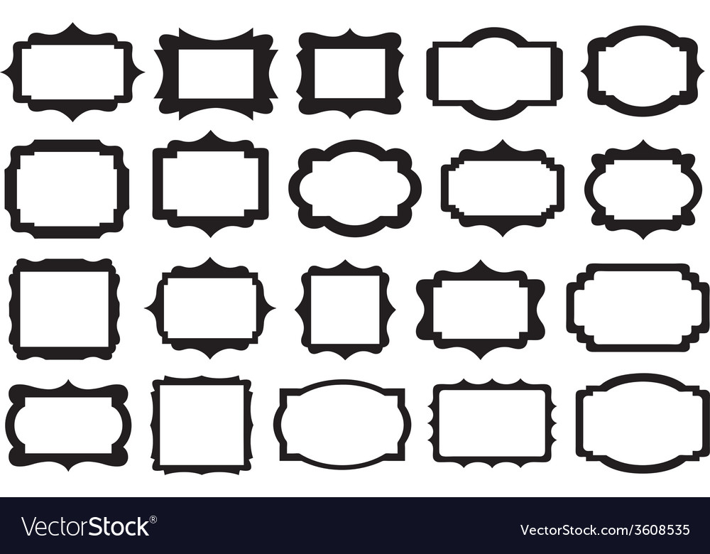 Set of different labels vector image