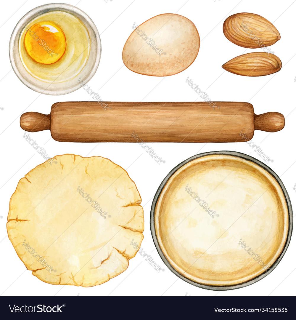 Watercolor recipe preparation ingredients