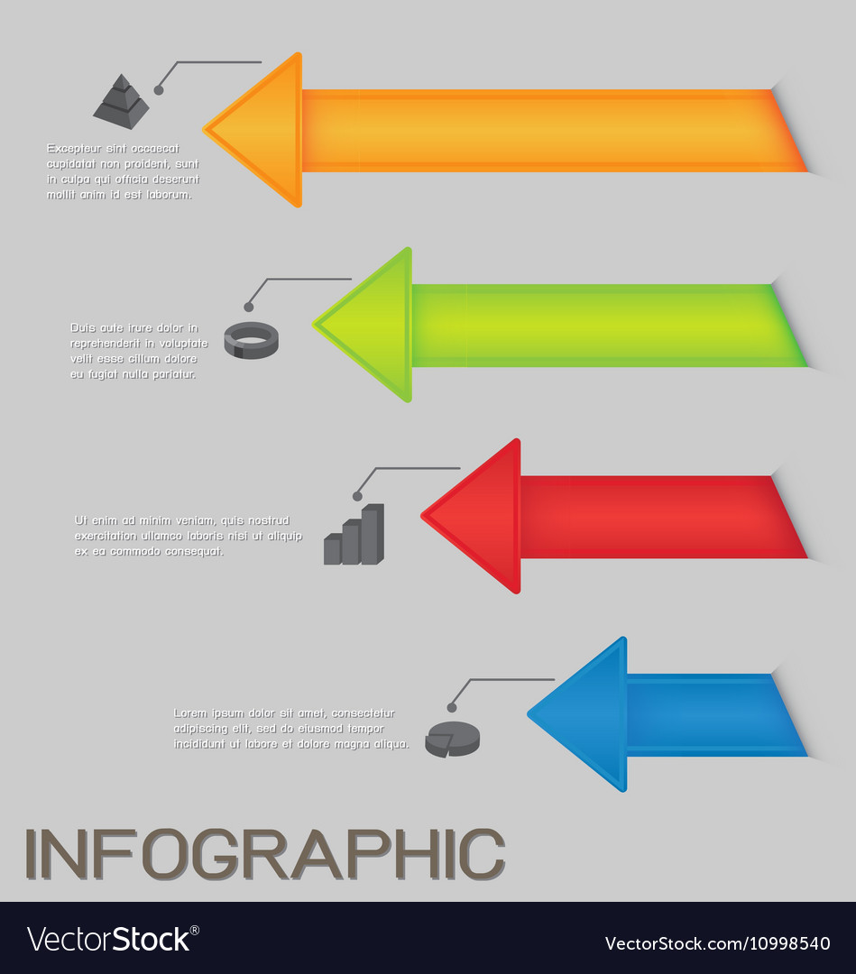 Colorful Arrows Diagram Infographic