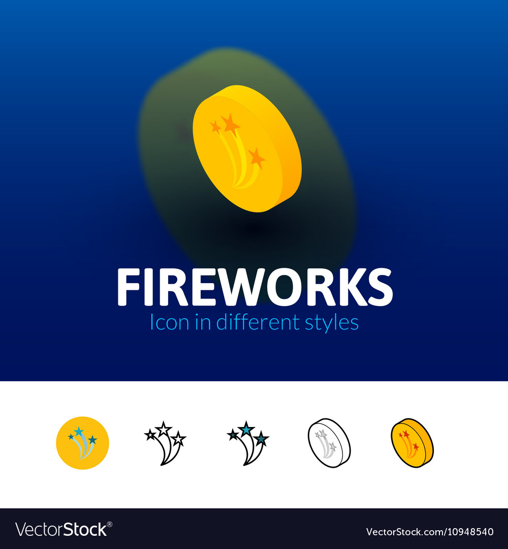 Fireworks icon in different style
