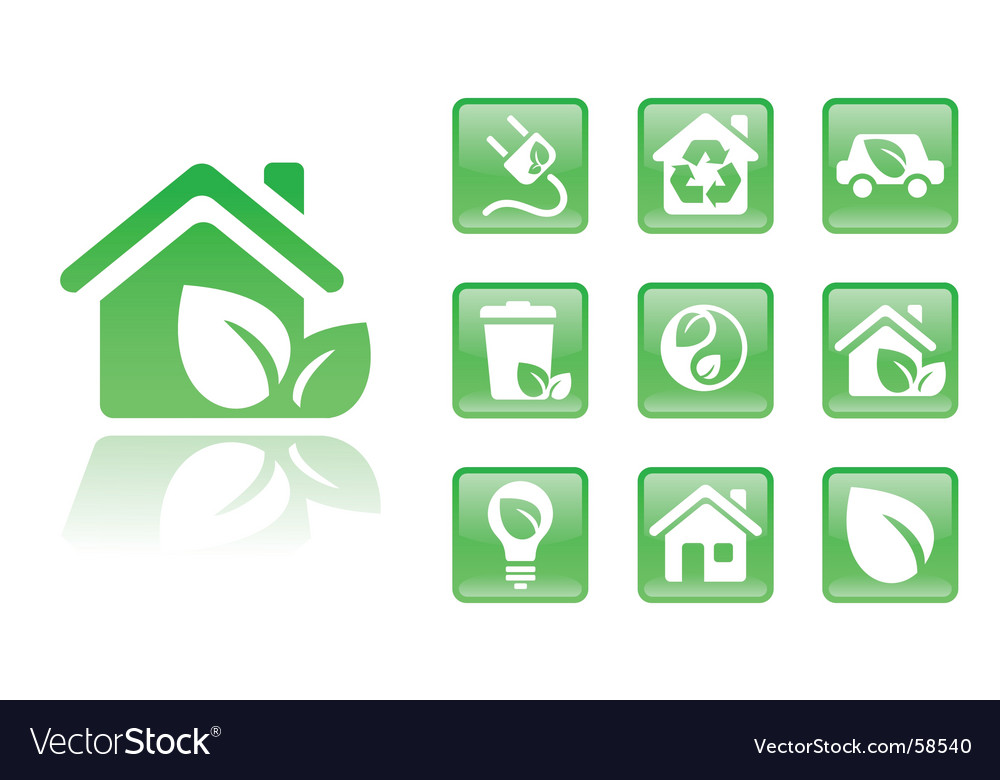 Green icons home