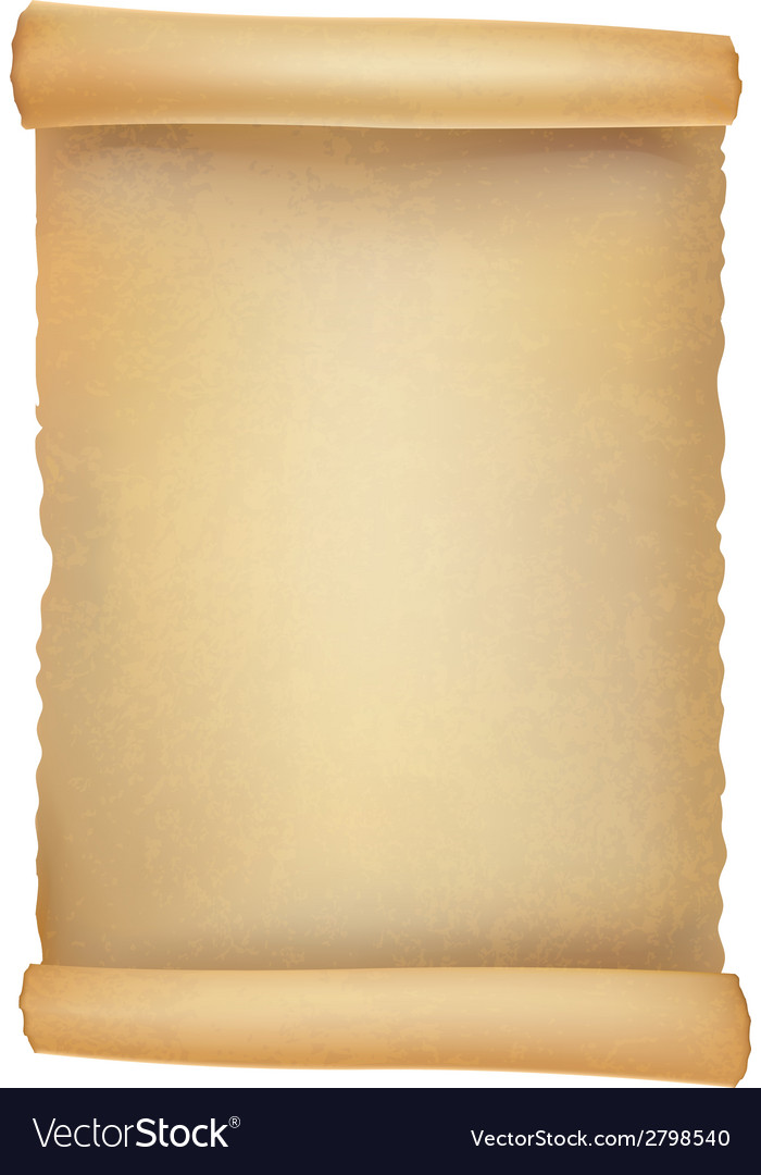 Old scroll realistic vector image