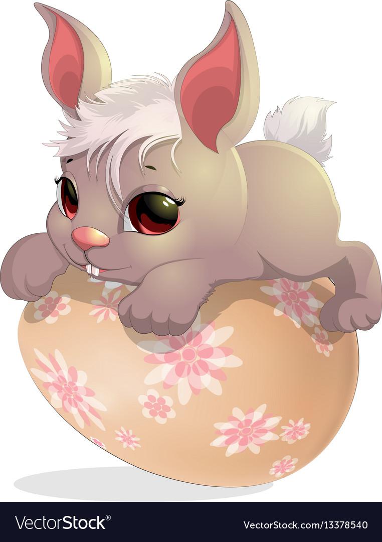 Rabbit on the egg