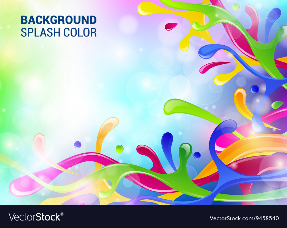 Splash background cover template drop