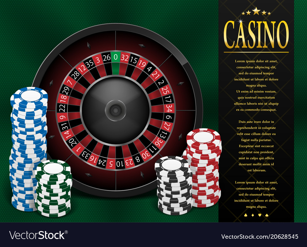 Casino gambling poster or flyer design casino vector image
