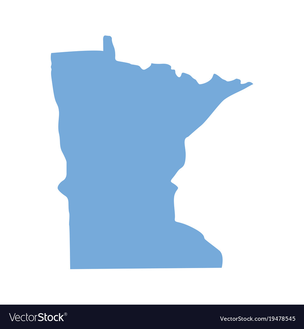 Minnesota State Map Royalty Free Vector Image Vectorstock