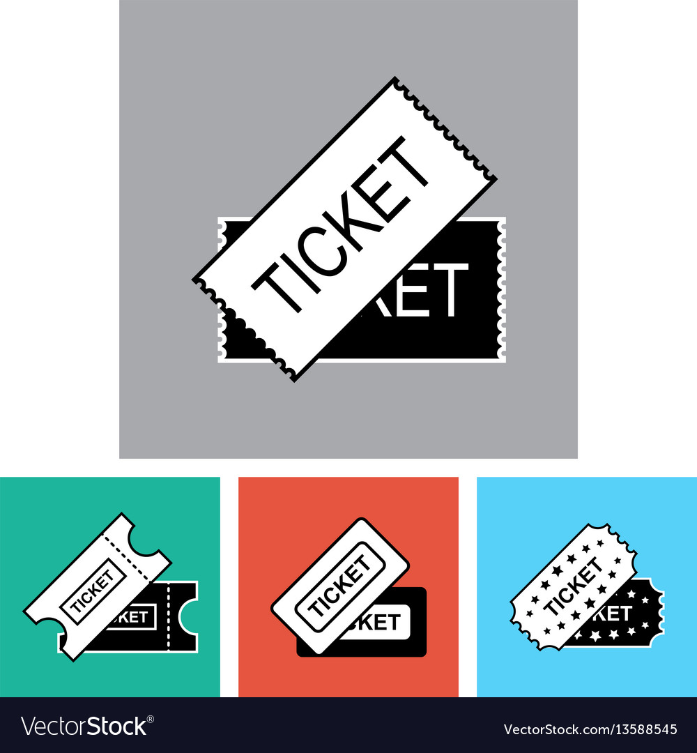 Ticket icon isolated