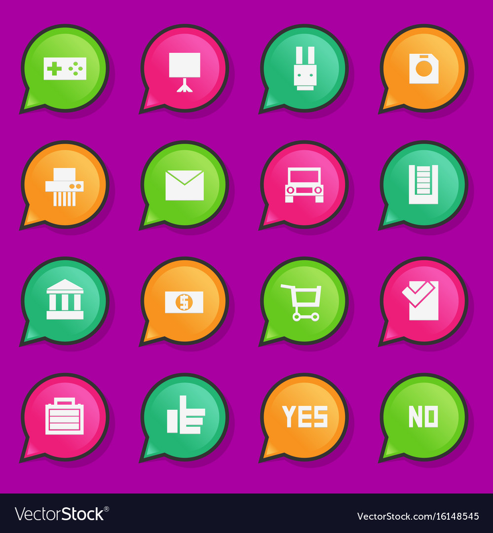 Universal flat icons for web and mobile