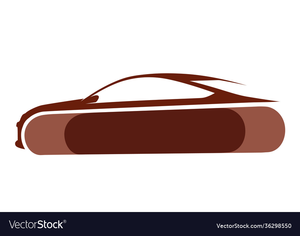 Auto logo with brown background