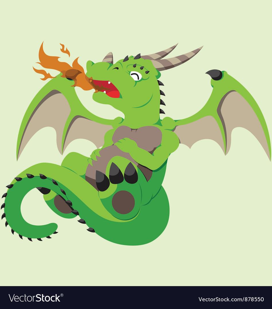 Cute Baby Dragon Royalty Free Vector Image Vectorstock