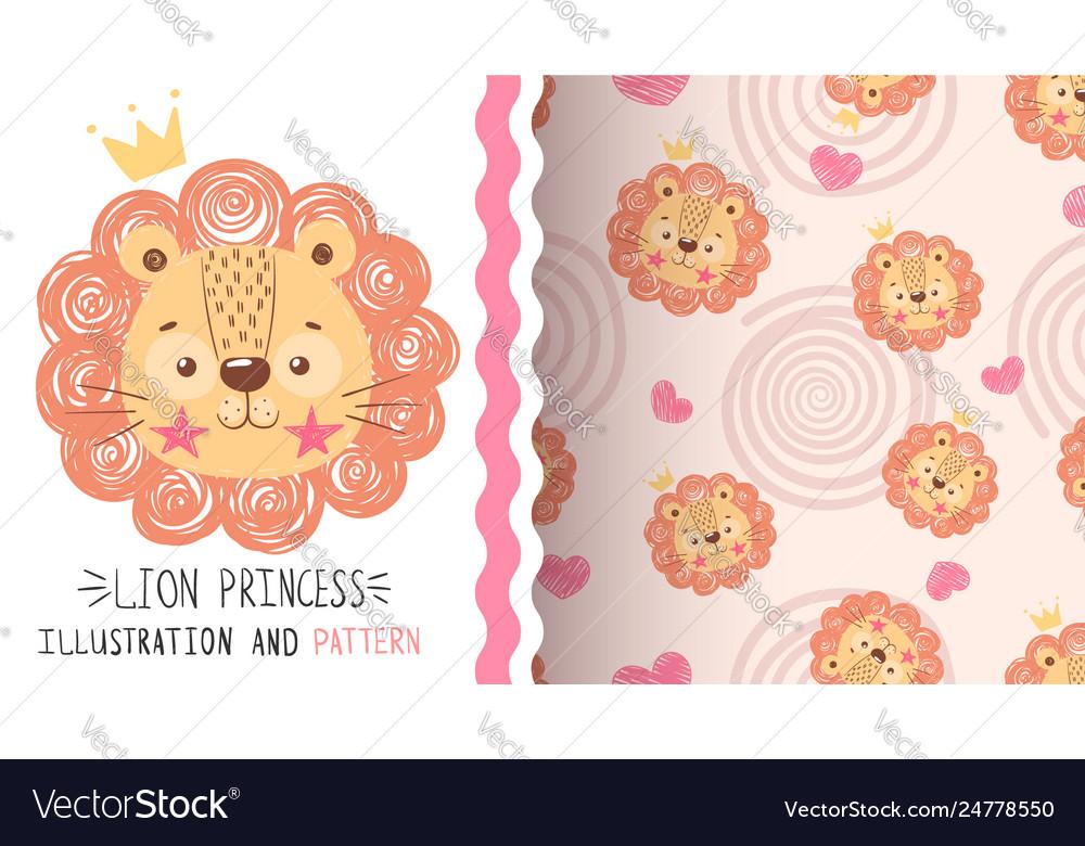Cute balion - seamless pattern