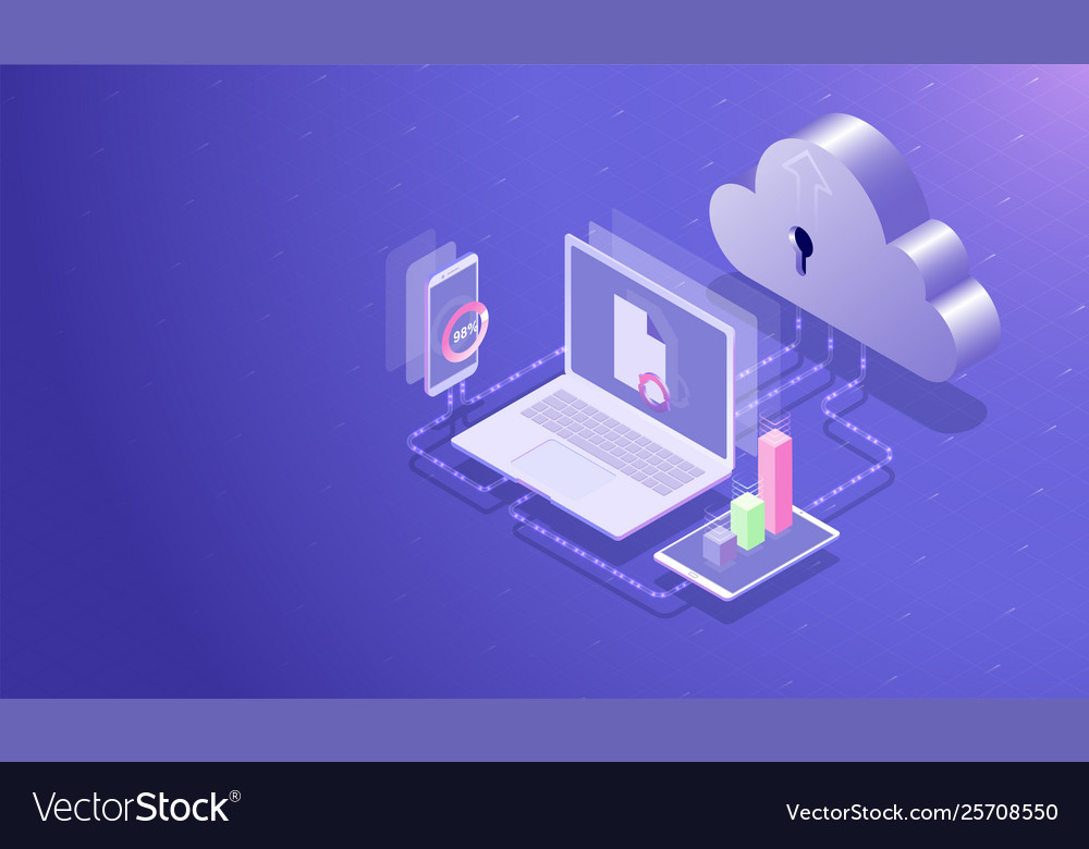 Isometric cloud data storage center and cloud