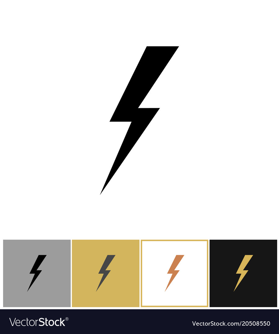 Lightning Bolt Icon Flash Vector Image