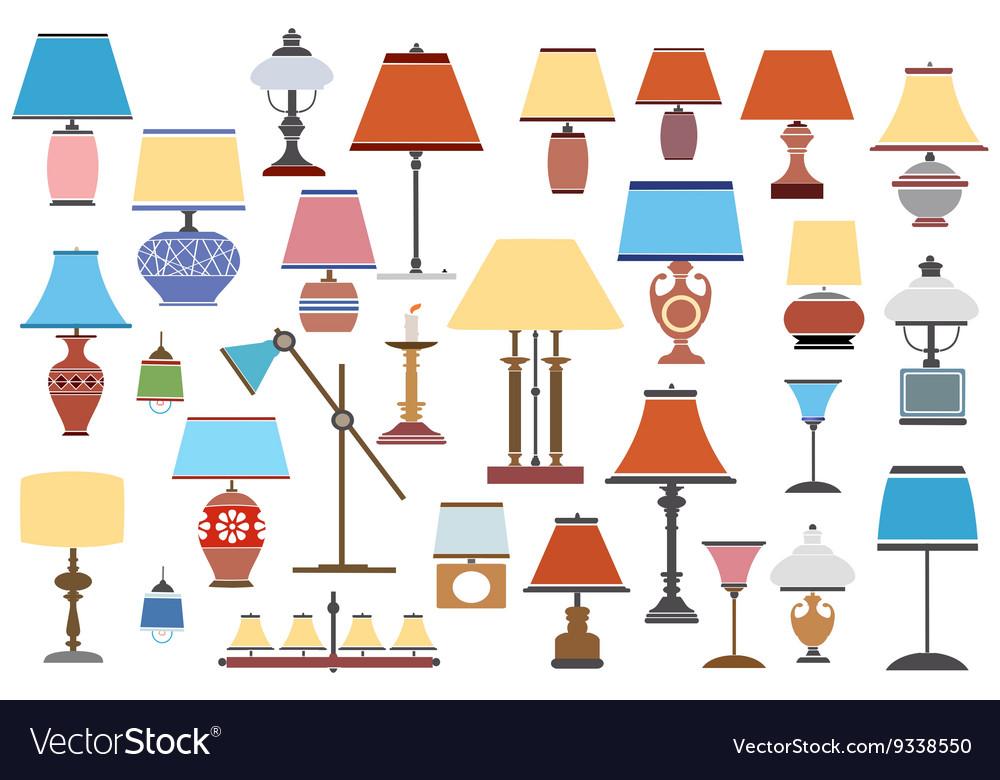 Retro antique lamps