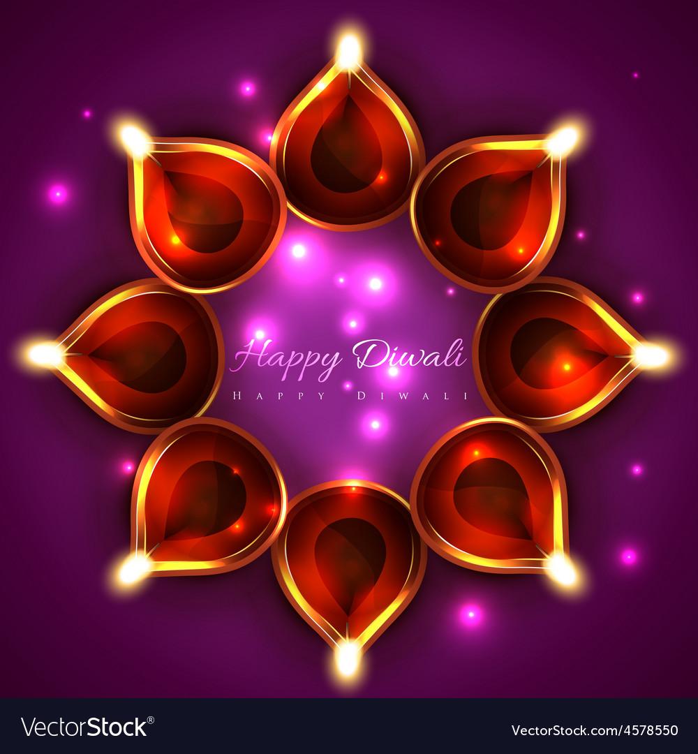 Shiny background of diwali diya