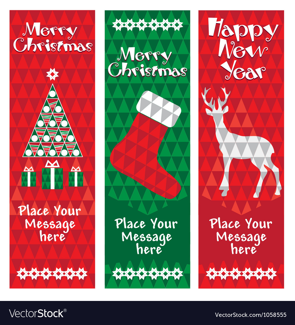 Banners christmas vertical