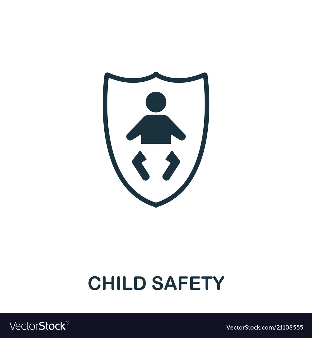 Child Safety Icon Mobile Apps Printing And More Vector Image You can download safety icon posters and flyers templates,safety icon backgrounds,banners,illustrations and graphics image in psd and vectors for free. vectorstock