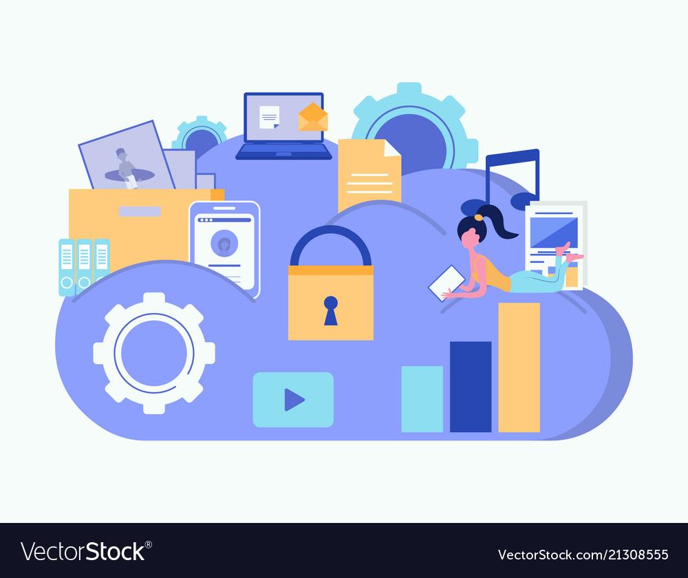 Cloud security concept cloud storage cloud