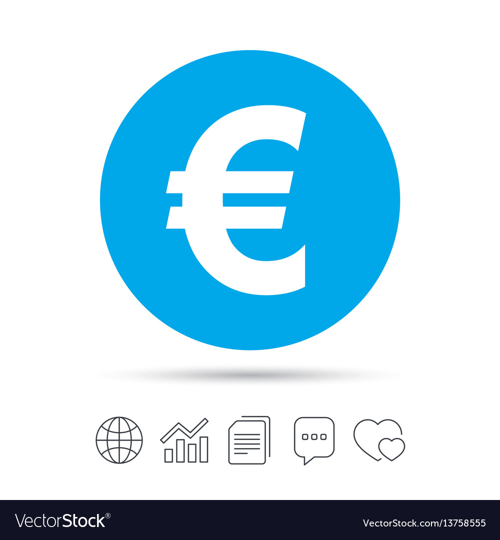 Euro Sign Icon Eur Currency Symbol Royalty Free Vector Image