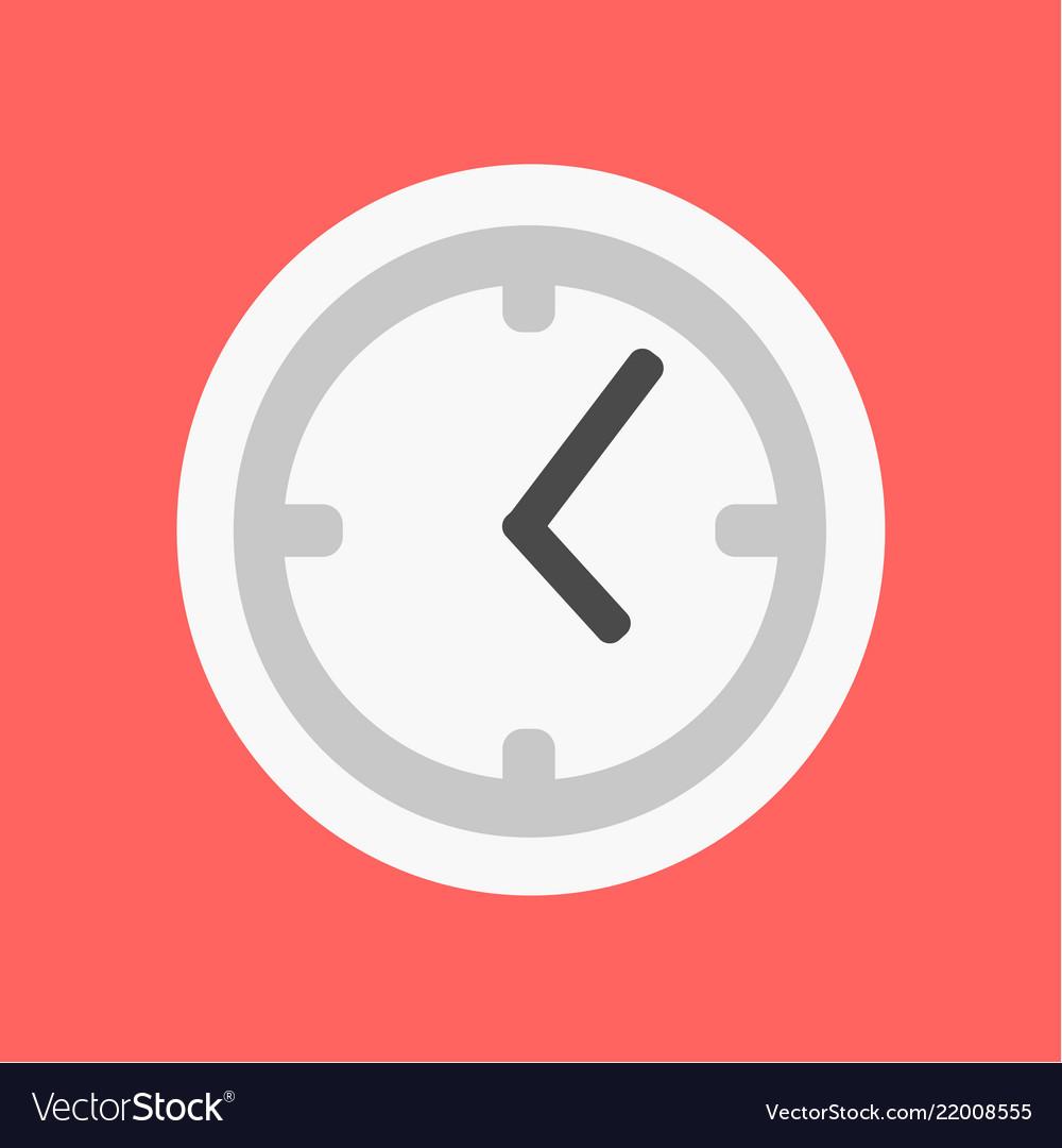 Flat clock icon time flat