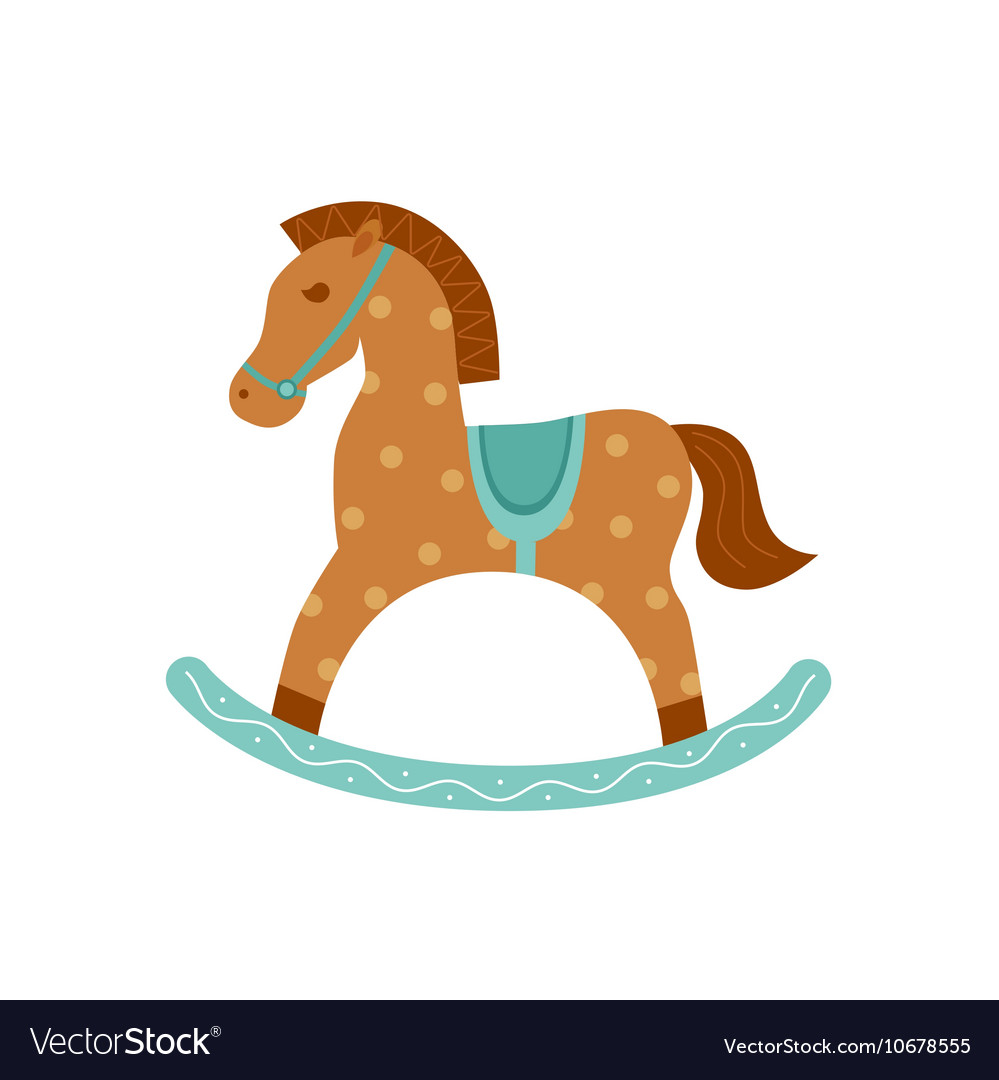 Rocking Horse Isolated Icon Royalty Free Vector Image