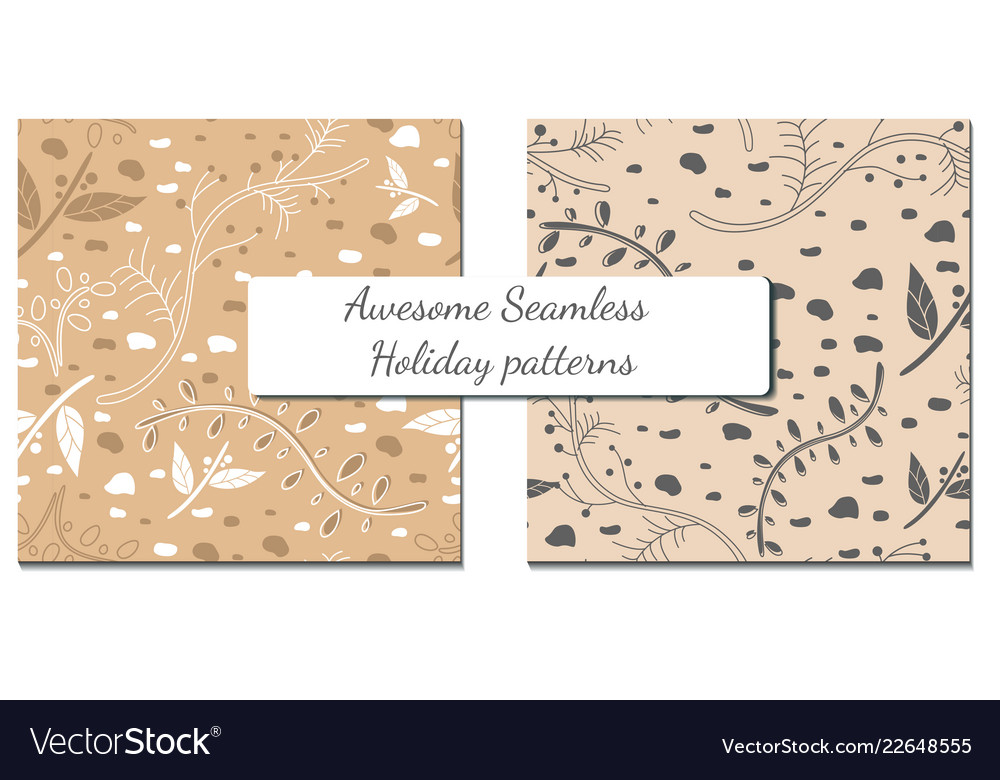 Set of two winter patterns with simple elements
