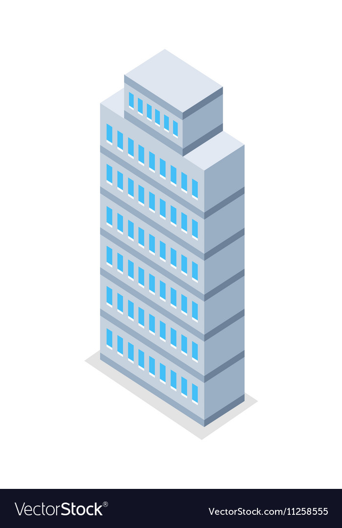 Skyscraper in Isometric Projection vector image