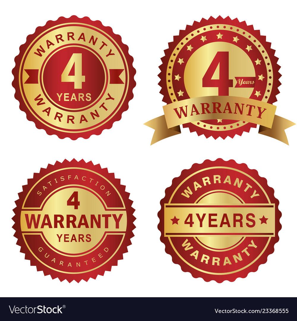 Warranty labels 4 years