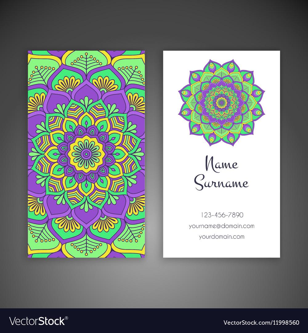 Business card Vintage decorative elements