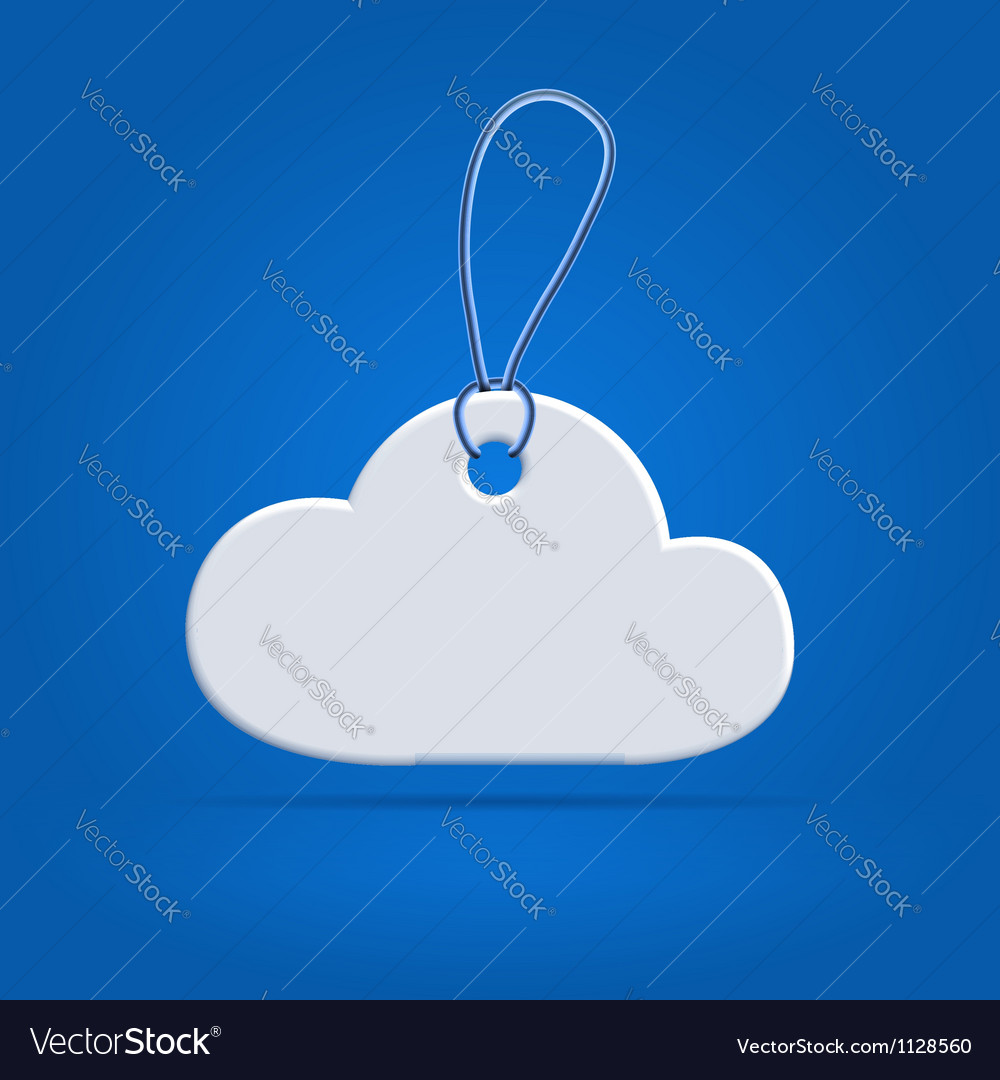 Cloud shaped tag label