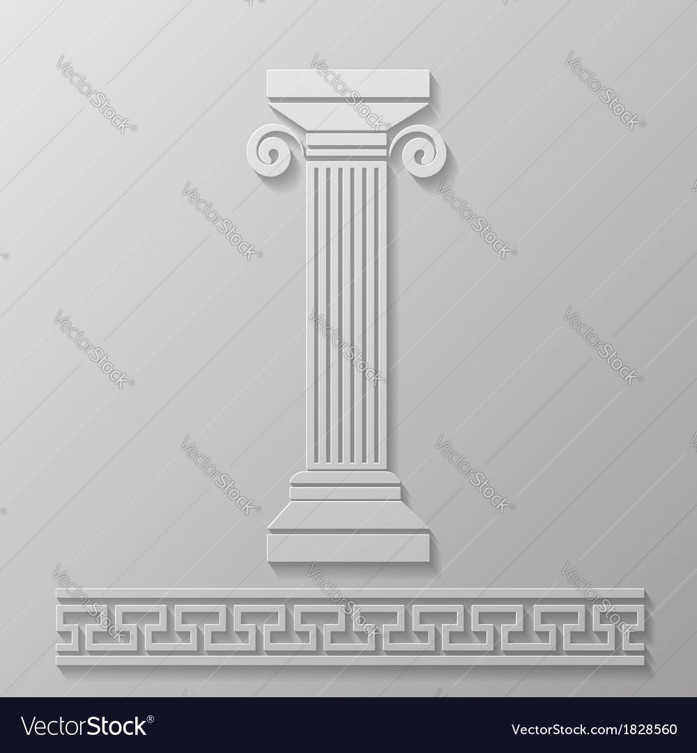 Gray column vector image