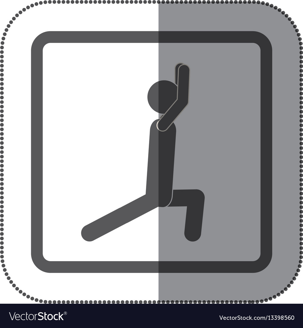 Person stretching doing exercise icon vector image
