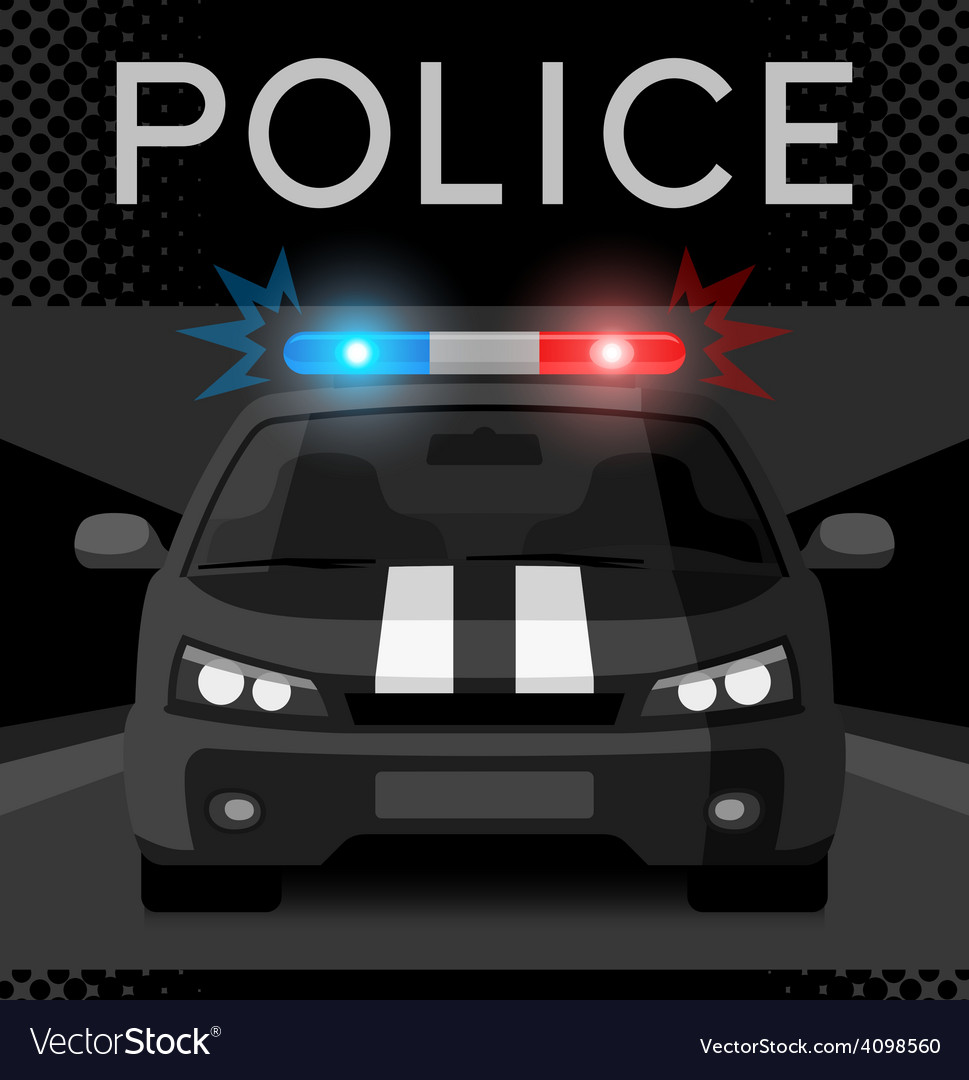 Police car with flash light