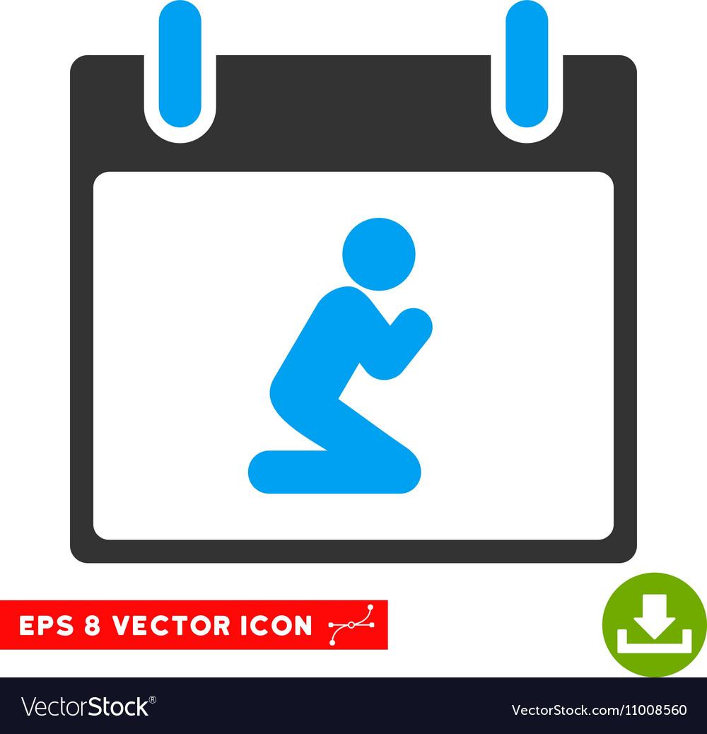 Pray Person Calendar Day Eps Icon vector image