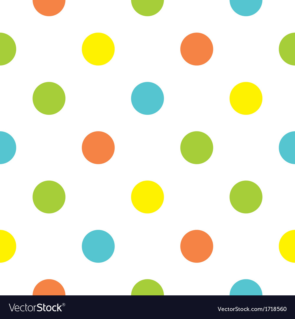 Seamless background with big colorful polka dots