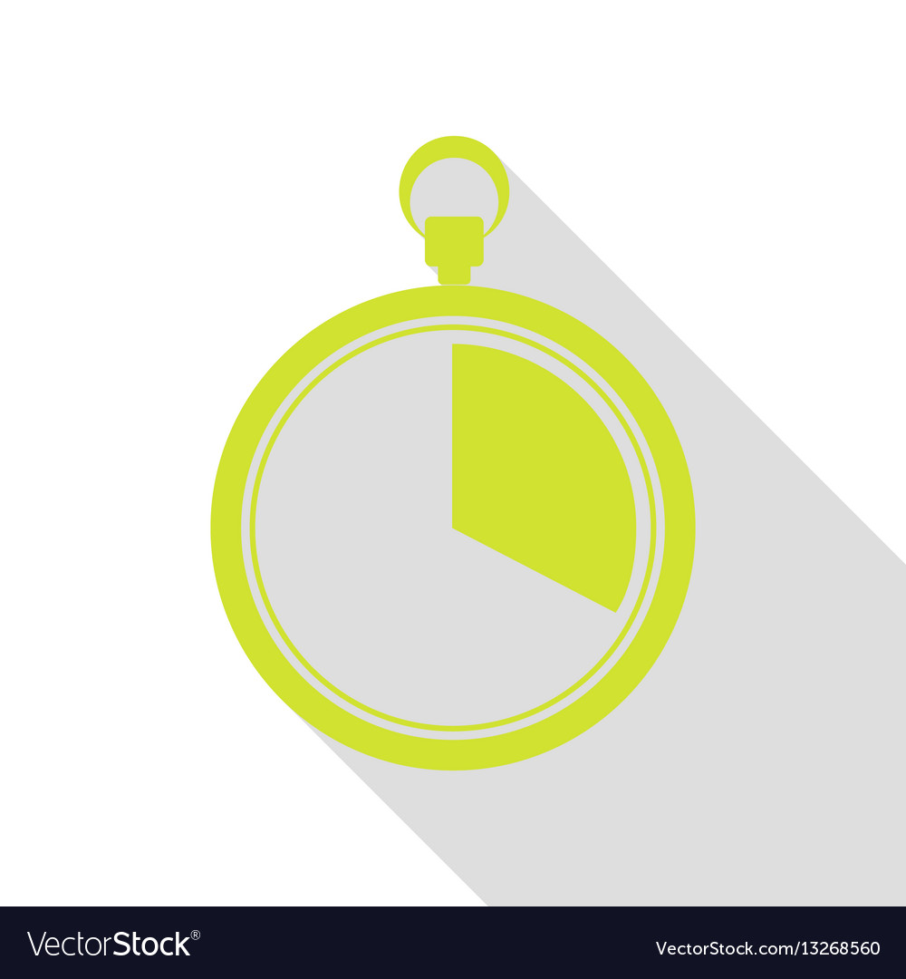 The 20 seconds minutes stopwatch sign pear icon vector image