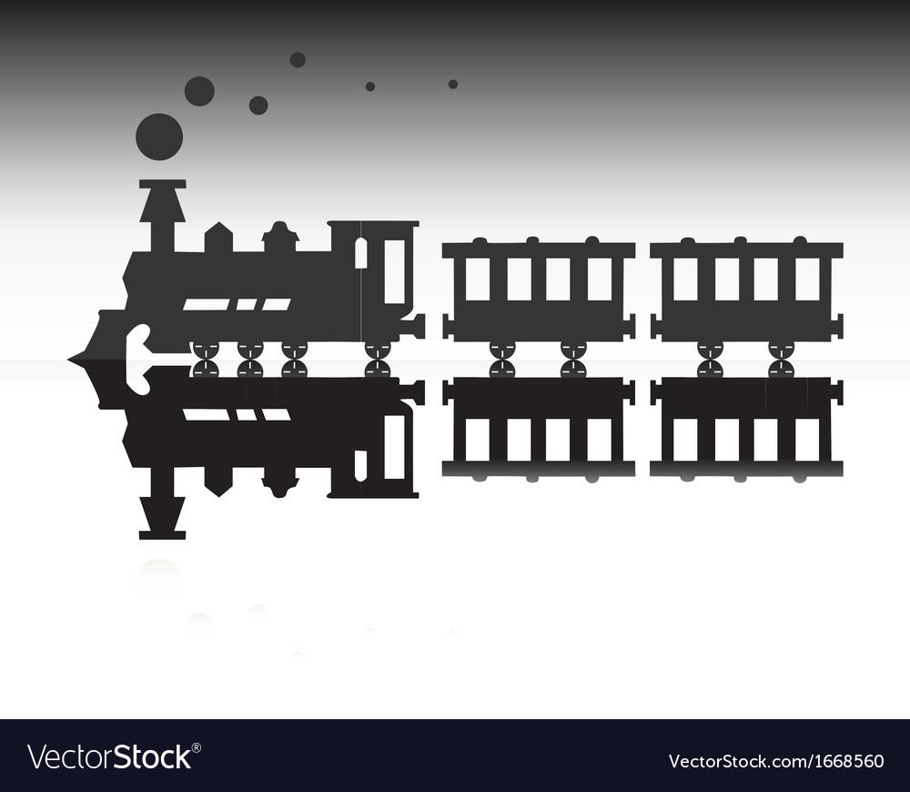 Train silhouette vector image