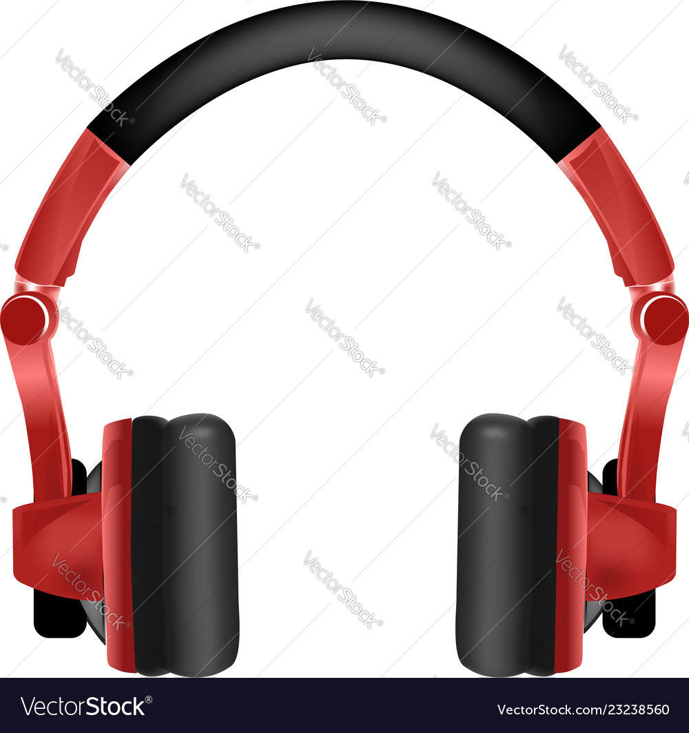 Trendy youth wireless red headphones