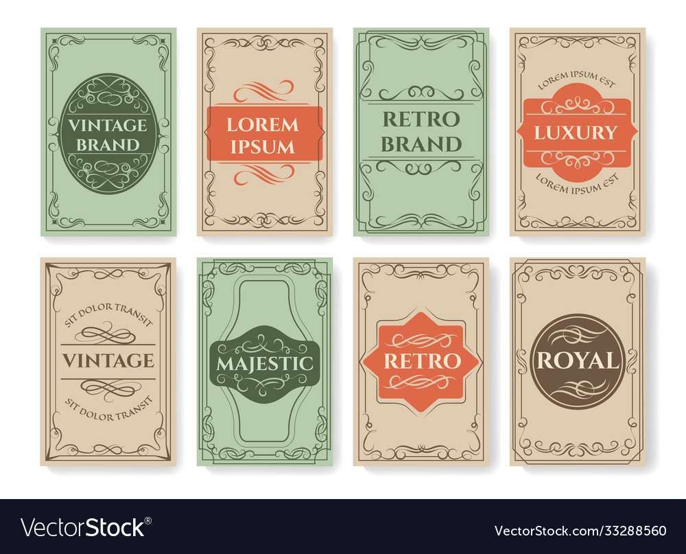 Vintage filigree card covers