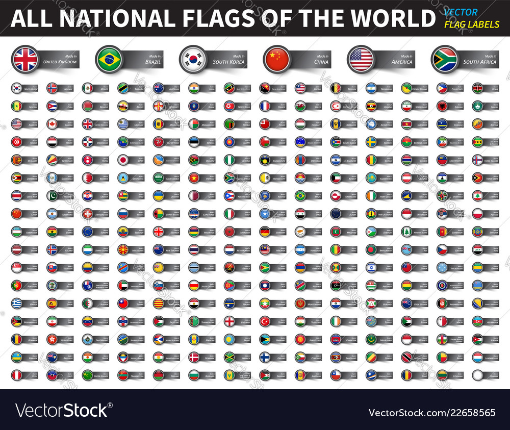 All national flags of the world circle cover