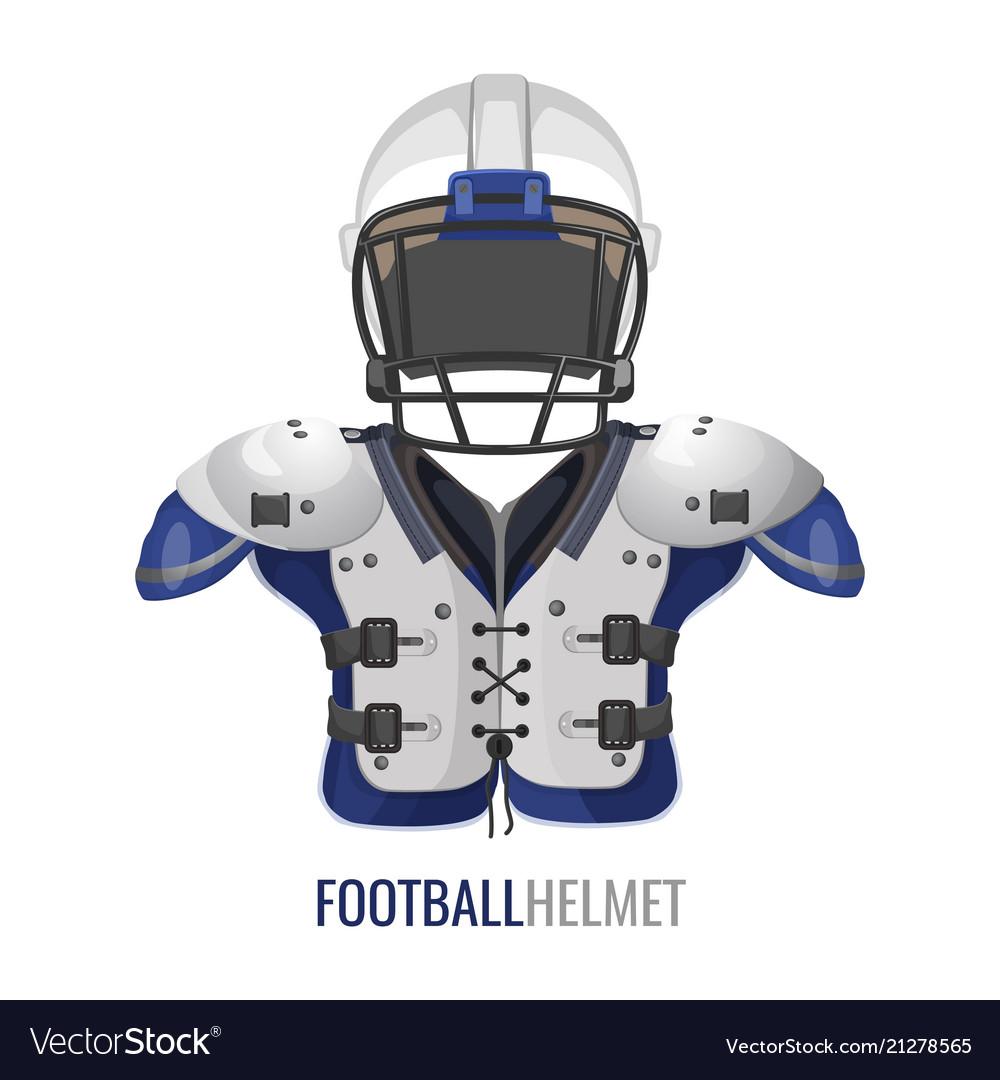 American football costume element cartoon