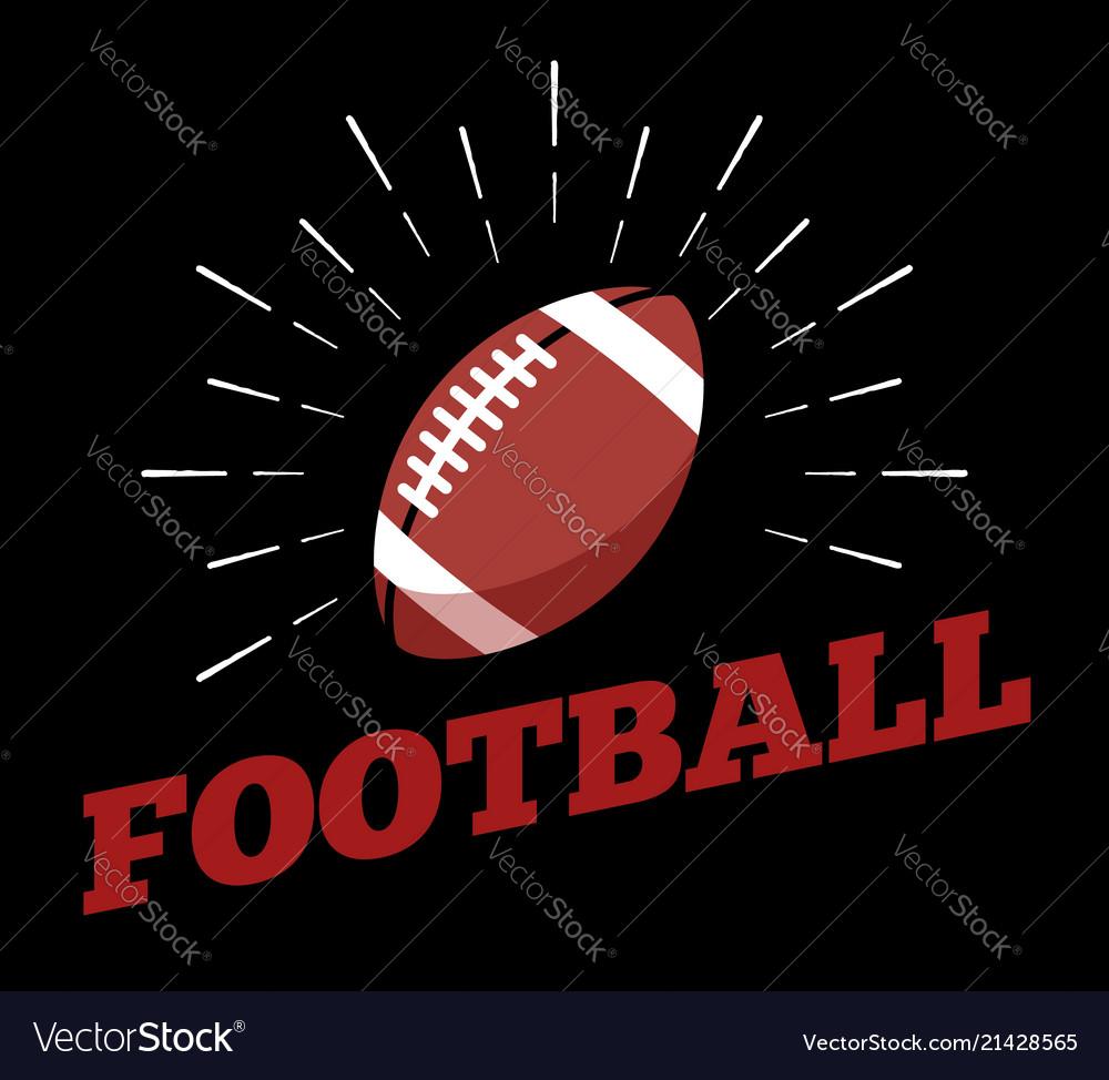 American football sport ball logo icon sun burtst