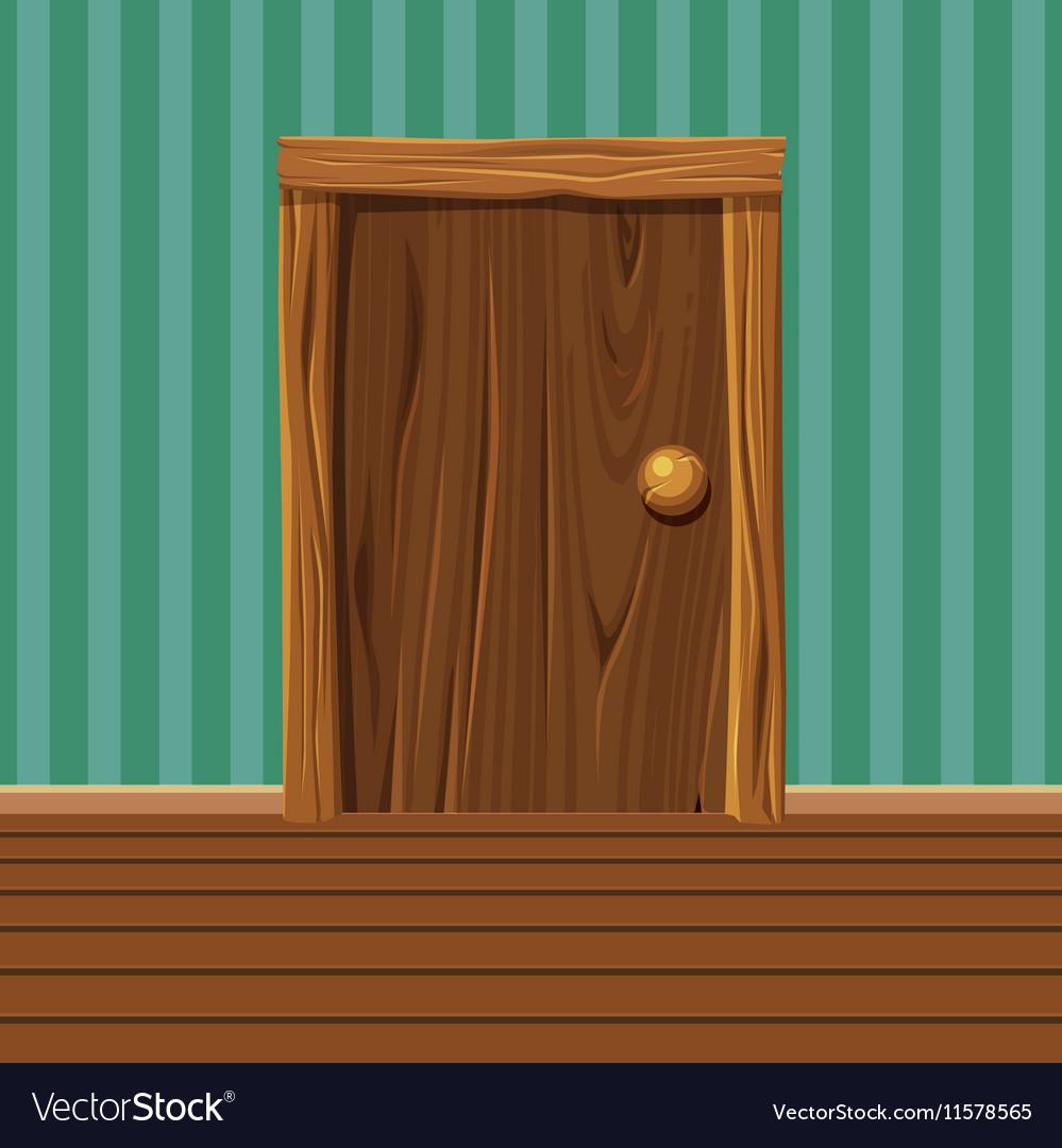 Cartoon Wooden old Door