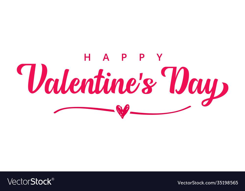 Happy valentines day pink typography banner