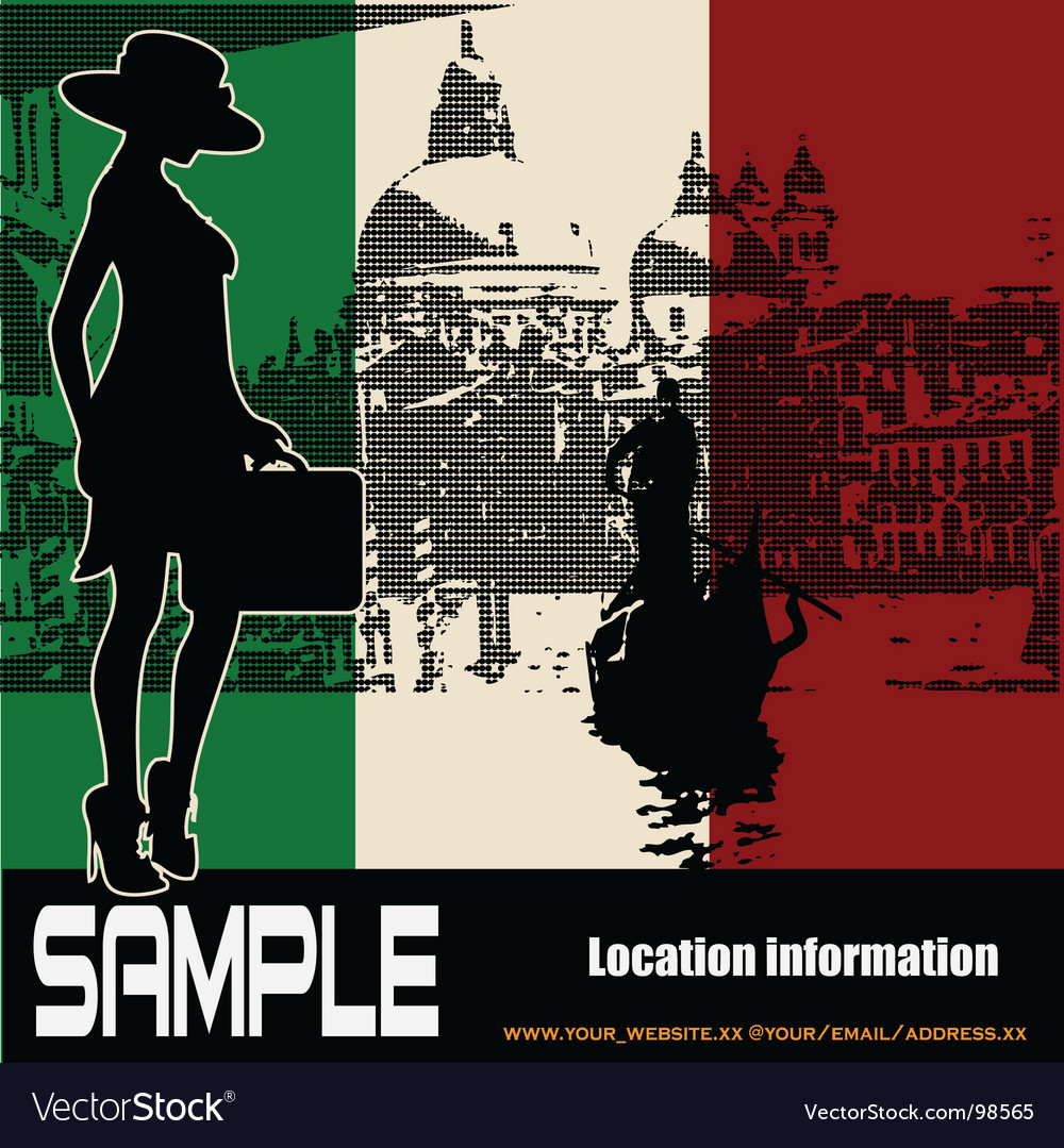 Italian travel flyer