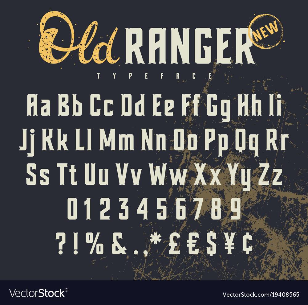 Old ranger 001 vector image