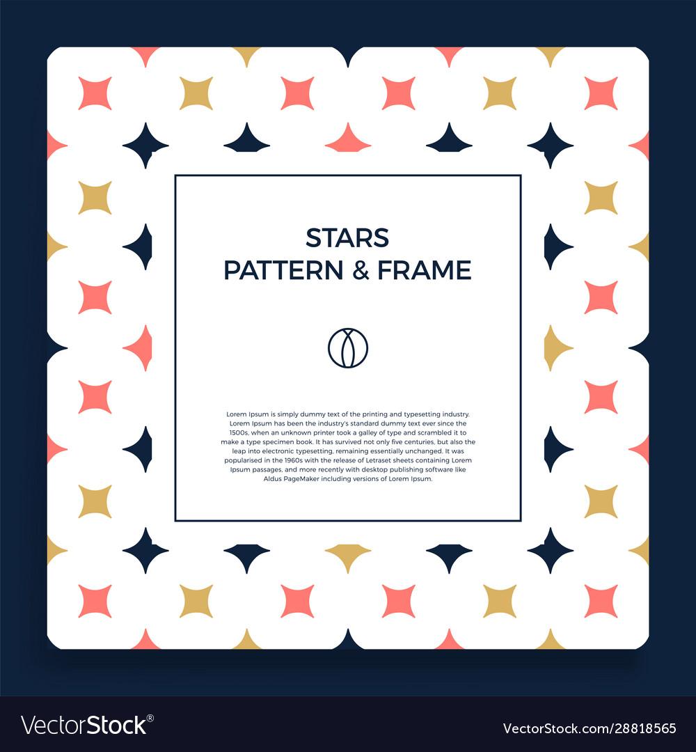 Poster banner or card frame border