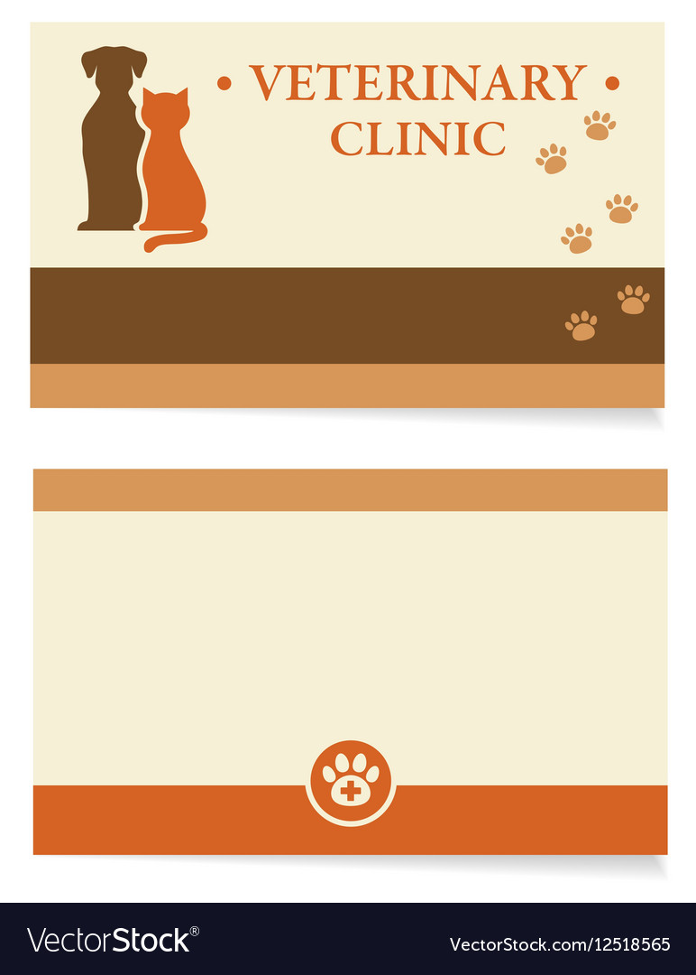 Veterinary business card royalty free vector image veterinary business card vector image colourmoves