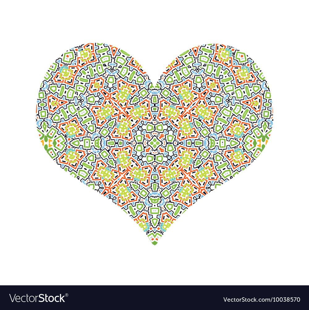 Abstract color pattern heart
