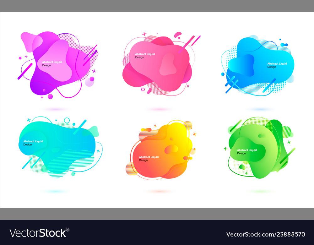 Abstract liquid design creative banner for website